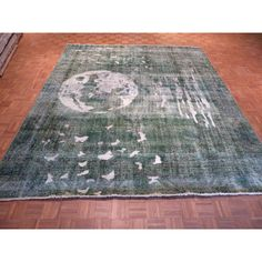Refurbished Hand Knotted Light Green Tabriz with Wool Oriental Rug (9'7 x 11'6) (9'7 x 11'6, Light Green), Brown