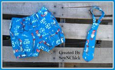 Boys Diaper Cover and Tie Set by SewNChick on Etsy