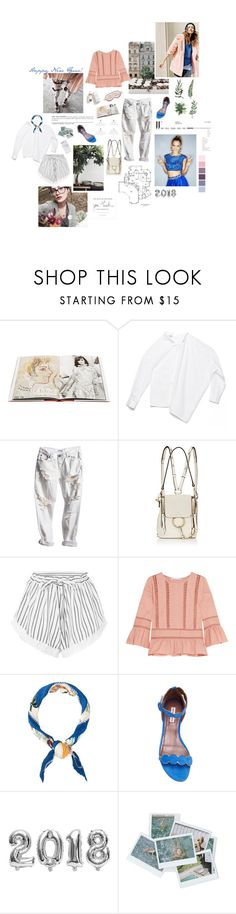 """Happy New Year!"" by sarahstardom ❤ liked on Polyvore featuring Herbivore, Assouline Publishing, Mary Green, Oscar de la Renta, Chloé, macgraw, Chelsea Flower, Hermès, Tabitha Simmons and Zero Gravity"