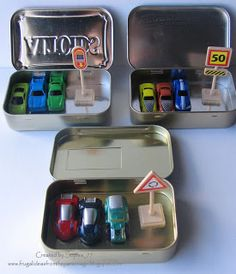 Upcycled Altoids Tin- Travel Car Sets