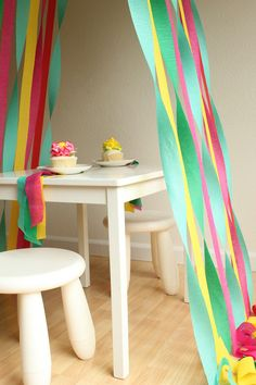 Crepe paper tent. I would keep going until it was more of a teepee. :)