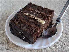 Eggless Chocolate Mud Cake and Eggless Orange Mousse - Recipe