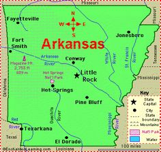 cool Map of Arkansas
