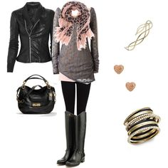 black, grey, and light pink = love! I so need to remember to put all this together when I put on an outfit!