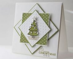 handmade christmas cards ideas from stampin up using a cardinal stamp - Bing images Homemade Christmas Cards, Christmas Cards To Make, Homemade Cards, Holiday Cards, Christmas Diy, Merry Christmas, Christmas Trees, Homemade Greeting Cards, Christmas Cookies