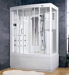 Ariel Bath ZA208-R Ameristeam Whirlpool Steam Shower Corner Tub