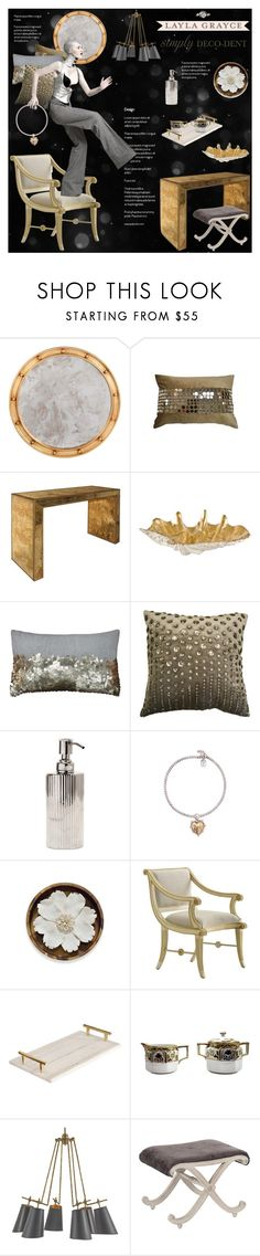 """""""Untitled #1084"""" by blackfury ❤ liked on Polyvore featuring interior, interiors, interior design, home, home decor, interior decorating, Worlds Away, Regina Andrew Design, Eos and Pigeon & Poodle"""