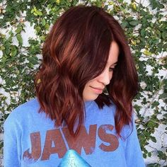 Spring 2016 trends- Mahogany hair color