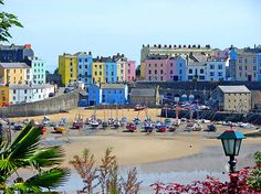 No, not the Med - Tenby, West Wales (and yes, those really are the colours!)