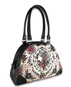 Liquor Brand Damen GYPSY QUEEN Handtasche/Bag.Tattoo,Pinup,Biker,Custom Style