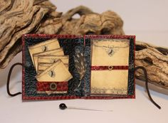 Witch Notebook and Writing Feather Dollhouse Miniature