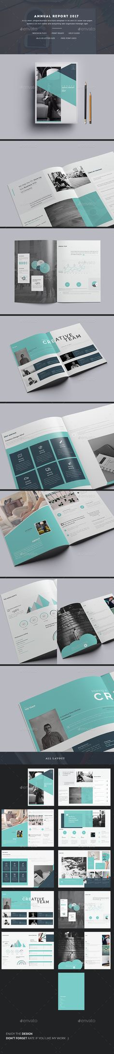 Annual Report 2017 Brochure — InDesign INDD #business #clean. multipurpose • Download ➝ https://graphicriver.net/item/annual-report-2017-brochure/19415627?ref=pxcr
