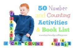 50 Number and Counting Activities with a Book List - www.teachersofgoodthings.com