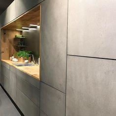 10 Inspiring Modern Kitchen Designs – My Life Spot Barn Kitchen, Kitchen Corner, Open Plan Kitchen, Kitchen Furniture, Kitchen Interior, Interior Styling, Interior Design, Concrete Kitchen, Modern Kitchen Design
