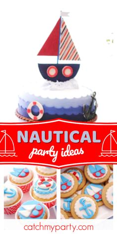Sail Boat Sticker Labels for Party Bag Sweet Cones