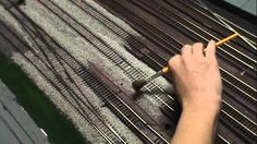 How to quickly ballast model train track