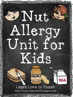 "28 printables of information about peanut/nut allergies for the primary grades. I have lots of allergies and I know it can be a difficult concept for students to grasp. I hope that this mini-unit will help teach your students and provide them with a better understanding of allergies :)Includes:-Posters for a ""nut-free"" and ""peanut-free"" classroom-Posters about what having an allergy means, symptoms, and what to do if someone is having an allergic reaction-Mini booklet all about allergies"
