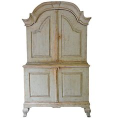 18th century Swedish Rococo Cabinet | From a unique collection of antique and modern cupboards at https://www.1stdibs.com/furniture/storage-case-pieces/cupboards/