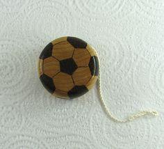 Wood Yo-Yo  Soccer  Pyrography  BKInspired by bkinspired on Etsy #soccer #yoyo #pyrography