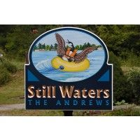 A fun loving lake house sign, Still Waters features original artwork and unusual copper gilded text. Each letter is carved by hand with chisels. Cottage Names, Lake House Signs, House Names, Bird Artwork, Home Signs, Water Features, Be Still, Signage, Original Artwork