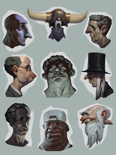 sketches, Roman Semenenko on ArtStation at https://www.artstation.com/artwork/ag2Eq
