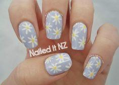Nailed It NZ: Daisy Nails | Trip Down Nail Art Lane Day 4 http://www.naileditnz.com/2014/01/daisy-nails-trip-down-nail-art-lane-day.html