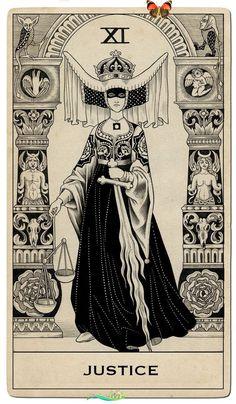 "citybifunow Hand-written lettering from the Nenuphar Book -  Sveta Dorosheva – A set of Tarot cards commissioned by Capitol Records for Halsey's ""Hopeless - #AppDesign #Behance #Book #handwritten #InteractionDesign #lettering #nenuphar #WebsiteDesigns #written<br> Tarot Card Tattoo, Tarot Card Art, Diy Tarot Cards, Cards Diy, Justice Tarot, What Are Tarot Cards, Hopeless Fountain Kingdom, Tarot Gratis, Arte Obscura"