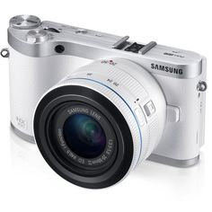 Chic simplicity meets high-tech sophistication in Samsung's NX300 Smart camera. Its revolutionary lens system allows it to shoot 3-D images and video.