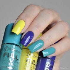 #flormar : Желтый - fc20 Highlighted Me, синий - fc17 Speed Limit, бирюзово-голубой - fc25 Utopia Vacation. Все в один слой без топа!