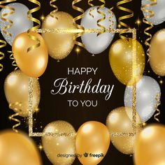Happy Birthday Party Photography Backdrops Gold and White Ballons Photo Background Black Fabr. Happy Birthday Party Photography Backdrops Gold and White Ballons Photo Background Black Fabric Pho Birthday Wishes For Brother, Happy Birthday Wishes Images, Happy Birthday Celebration, Happy Birthday Pictures, Birthday Wishes Cards, Happy Birthday Parties, Happy Birthday Greetings, Happy Party, Happy Birthday For Him