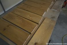 wood stained Minwax Provincial