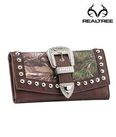 #New Realtree Xtra Camo Studded Buckle Wallet