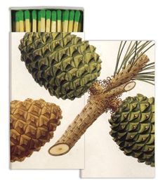 pine cone holiday decorative matches — MUSEUM OUTLETS  #pinecone  #decorativematchbox  #holiday  #hostessgift