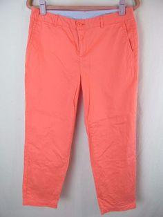 LL Bean Favorite Fit Women's Size 8 Salmon Ankle Cropped Dress Work Pants Capris #LLBean #CaprisCropped