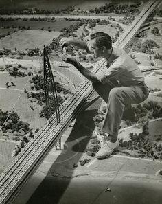 Rediscovering Norman Bel Geddes, Richard Garrison, Worker constructing Futurama model bridge, ca. 1939   Co.Design