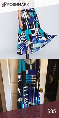 Lane Bryant modern pattern hi lo dress 18/20 NEW Lane Bryant patterned hi lo dress. Size 18/20. New without price tags. Never worn Lane Bryant Dresses High Low