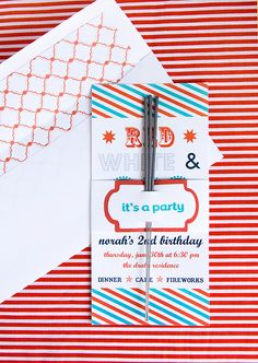 :: armelle blog ::: red white and blue invitations fourth of July