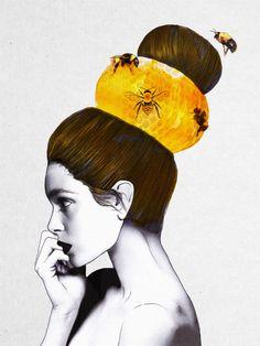 The Bee Hive Art Print by Jenny Liz Rome | Society6
