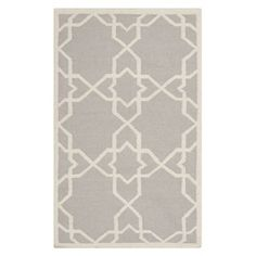Safavieh DHU548G Dhurries Grey and Ivory Area Rug  Dhurries Grey and Ivory Area RugThe classic geometric motifs of Safavieh's flat weave Dhurrie Collection