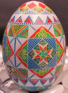 Duck Egg Pysanka by Katrina Lazarev, Pysanky. I love her eggs!