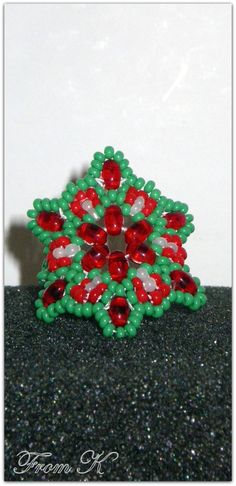 Twin Beads, Beaded Rings, More Photos, Type 3, Seed Beads, Seasons, Facebook, Create, Christmas