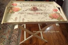 LittleMissMaggie: Portable Butler's Table and a New Stencil Source