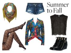 """""""Summer to Fall with Florals and Lace"""" by stylishimoarts ❤ liked on Polyvore featuring 3x1, Fogal, Costarellos, Top Moda, Kenzo, Mary Frances Accessories, lace, florals, layering and summertofall"""