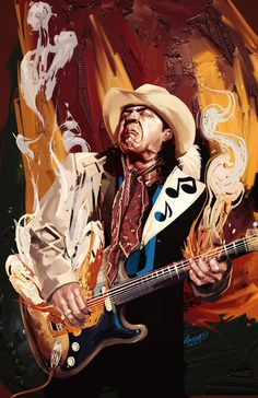 Styles of Art influence another style just like the inspiration of Stevie Ray Vaughn allowed for expression to be born through this artist