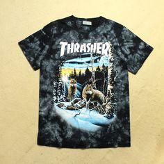 Thrasher Justin Bieber Cotton T Shirts Unisex Cool Rappers Top Tees Hip Hop Harajuku Summer Masculinas Camisetas Hombre O-Neck