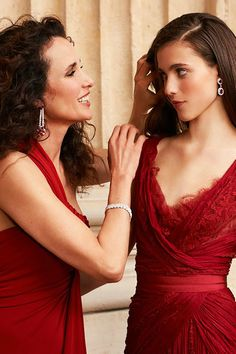 Andie Macdowell with her daughter Sarah Margaret. I am fascinated by this mother-daughter moment, and the idea that they are dressing their different truths, but still managing to look alike.