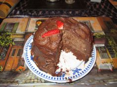 Raw chocolate cake - gooey, chocolatey, gorgeousness :) www.barefootandraw.co.uk Raw Chocolate Cake, Raw Food Recipes, Desserts, Raw Recipes, Deserts, Dessert, Postres, Food Deserts