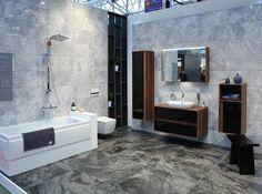 VitrA | Mosbuild 2015 Vitra Bathrooms, Double Vanity, Showroom, Tiles, Luxury, Bathroom Furniture, Toilets, Room Tiles, Tile