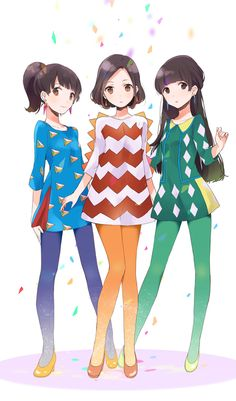 Magic of love : perfume drawings of friends, manga anime, animes manga, anime Friend Anime, Anime Best Friends, Cute Friends, Anime Group Of Friends, Anime Art Girl, Manga Girl, Anime Girls, Manga Anime, Perfume Jpop