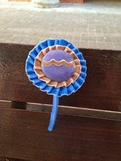 Los detalles de Loli: Diadema-Coletero en tonos Camel y azul